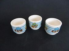 Hornsea Toffee & Mallow Egg Cups Set of 3.
