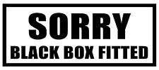 BLACK BOX fitted inside FUNNY JOKE NO TOOLS OVERNIGHT VAN CAR STICKER GRAPHIC