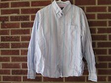 Vintage 90s Duck Head Shirt Large Striped Pink Blue