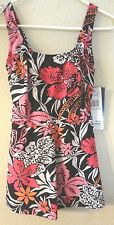 womens NEW NWT 1 PC swim SWIMMING SUIT size 8 GABAR black pink BUILT IN BRA NICE