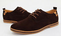 New TOP Men's Fashion Big Size Genuine Suede  Lace Up Sneakers Casual Shoes P1