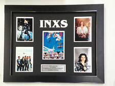 INXS PROFESSIONALLY FRAMED, SIGNED PHOTO COLLAGE WITH PLAQUE