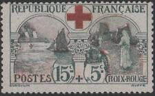 """FRANCE STAMP TIMBRE N° 156 """" CROIX ROUGE 1918, 15c+5c INFIRMIERE """" NEUF xx TB"""