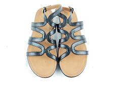 FITFLOP Strata Black Leather Leather Gladiator sandal sz 7 US