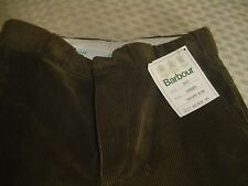Barbour Olive Corduroy Trousers 30 34 ( Unhemmed) sun faded NWT