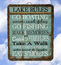 Lake13 Lake House Rules boat Gift Lake Decor Art Prints Welcome lalarry ventage