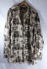 Red Hill Mens Exlarge Tall Button Up Shirt XLT Big 'n Tall Casual Moose Hunting