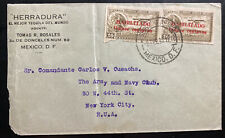 1938 Mexico City Mexico Commercial Cover To New York Usa Herradura Tequila