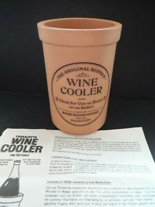 VINT. ORIGINAL SUFFOLK TERRA COTTA CLAY WINE COOLER HENRY WATSON ENGLISH POTTERY