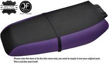 BLACK & PURPLE CUSTOM FITS KAWASAKI ZXi 1100 900 96-02 VINYL SEAT COVER + STRAP
