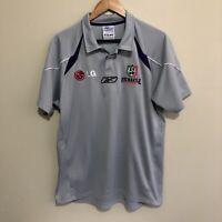 Fremantle Dockers Polo Shirt Reebok 2006 AFL Football Silver Adult Mens Large
