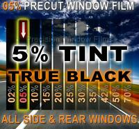 Light 50/% VLT AUTO FILM Honda Civic 2dr Coupe 01-05 Cut Window Tint