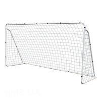 12 x 6' Portable Soccer Goal Net Steel Post Frame Backyard Football Training Set
