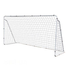 12 x 6' Portable Soccer Goal Net Steel Post Frame Backyard Football Training Set