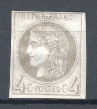 "FRANCE STAMP TIMBRE 41 A "" CERES BORDEAUX 4c GRIS REPORT 1 "" NEUF x TB VOIR P690"