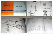 Hitachi EX16-2B Excavator and Equipment Parts Catalog Ersatzteilliste 2000