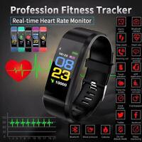 Fitness Smart Wrist Band Pedometer Call Reminder Activity Tracker Watch Bracelet