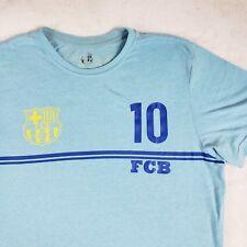 RARE FCB AFA Argentina Messi Soccer Futbol T-shirt Blue Sz Large