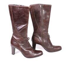 15S Barrità Boutique  Stiefel Boots Leder braun Gr. 38 wadenhoch Lederfutter
