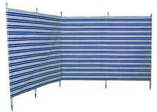 Blue Diamond 5 Pole Navy Blue Striped Windbreak