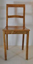 schlichter antiker Biedermeier Stuhl Buche natur restauriert lackiert Lattensitz