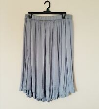 Philosopphy Plus Size 1X Slate Blue Stretchy Crinkle Midi Womens Skirt