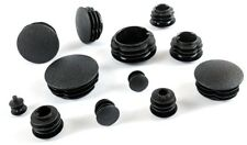 Round Tube Inserts Domed Blanking End Caps Made in Germany - Black (SFL)