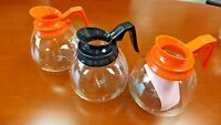 For BUNN Commercial Brewer - 3 - Coffee Pot Decanter Carafe - Black&Orange - NEW