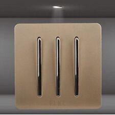 Triple 3 touches - Interrupteur ou va et vient - complet - Plaque - Elegant