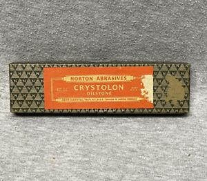 Vintage Norton Abrasives Crystolon Oilstone in Original Box