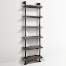 DIY Industrial 6 Level Pipe Shelf