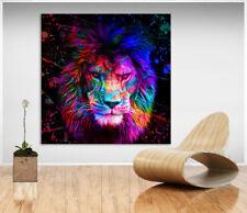 Wandbilder Löwe Tiere Bunt Farbe Bild Leinwand Abstrakte Bilder Kunstdruck D1176