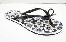 5bf5fed6a42d NIB Sz 9 Kate Spade Nova Black Flip Flop Hollyhock Floral Print Rubber  Sandals