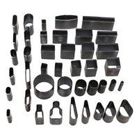 39x Leder Loch Hohl Punch Cutter Werkzeug Leder Handwerk Set DIY für