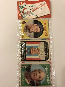 1959 Topps Christmas Holiday Rack Pack Vintage Baseball Cards