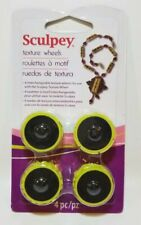 Sculpey Extra Texture Wheels Head Pack 4 Patterns Polymer Clay Polyform