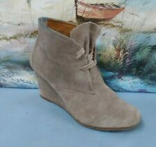 Dolce Womens brown Suede Wedge Heels Ankle Boots size  8