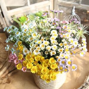 Beautiful Flowers Silk Daisy Flower Artificial Fake Bouquet Decor Floral