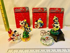 LOT❤️THE POWERPUFF GIRLS❤️7 CHRISTMAS ORNAMENTS🎄RESIN FRAMES AND TREE HANGERS