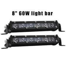 "60W 8"" LED Work Light Bar Spot Flood Driving Fog Lamp Off Road SUV Truck 6000K"