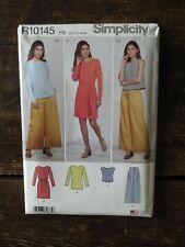 New Uncut SIMPLICITY Pattern H5 R10145 Misses WRAP DRESS TOP PANTS US Size 6-14