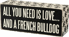 French Bulldog All You Need is Love Box Sign