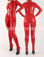 100% Latex Rubber All-body Suit Bodysuit Catsuit Red Size XXS-XXL
