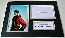 Sir Ranulph Fiennes Signed Autograph A4 photo display Explorer Memorabilia & COA