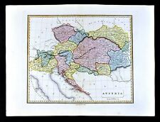1839 Bell Map - Austria Hungary Bohemia Transylvania Dalmatia Croatia Lombardy