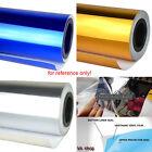 "CA 12"" x 60"" Mirror Chrome Sheet Wrap Vinyl Decal Racing Car Auto Sticker BLUE"