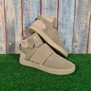 Adidas Tubular Invader Strap Green Smart Casual Trainers Size UK 9 EUR 43.5