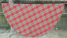 """Red Bright Green Christmas Plaid Oval 68""""X60"""" Tablecloth Free Shipping"""