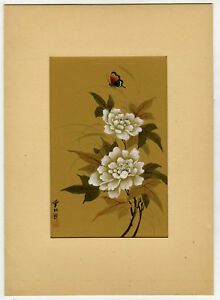 Antique Print-JAPANESE ART-PAINTING-BUTTERLY-NATURE-Anonymous-Ca. 1900