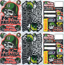 Metal Mulisha Motocross Decal Sticker Kit Set 6 Sheets MS-602